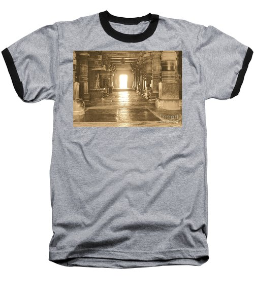 Baseball T-Shirt featuring the photograph Indian Temple by Mini Arora