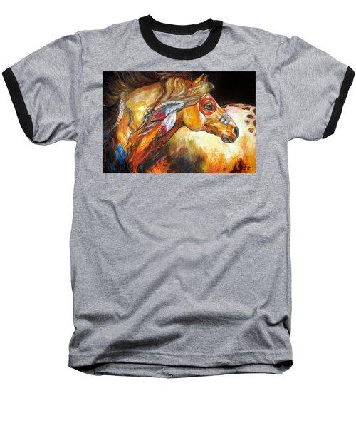 Indian War Horse Golden Sun Baseball T-Shirt