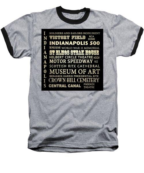 Indianapolis Famous Landmarks Baseball T-Shirt