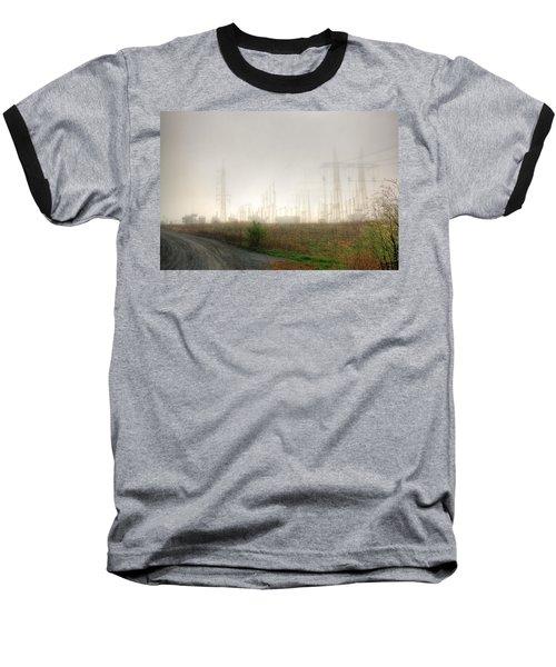 Industrial Skeleton Baseball T-Shirt by Dan Stone