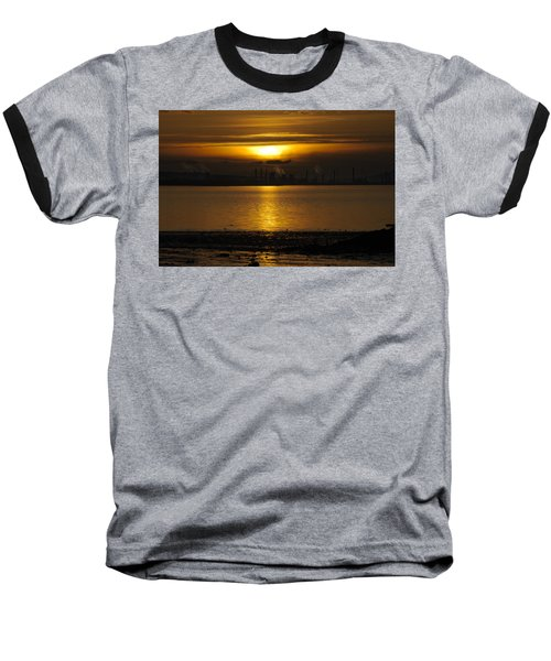 Industrial Sunset Baseball T-Shirt