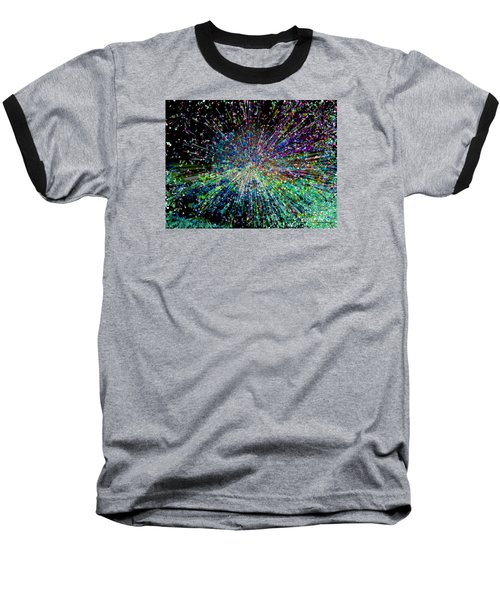 Baseball T-Shirt featuring the digital art Information Explosion by Mariarosa Rockefeller