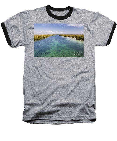 Inlet Leading To Caribbean Ocean Baseball T-Shirt