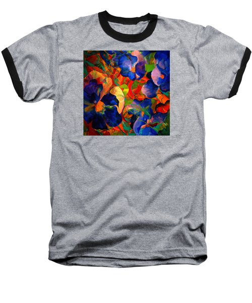 Baseball T-Shirt featuring the painting Inner Fire by Georg Douglas
