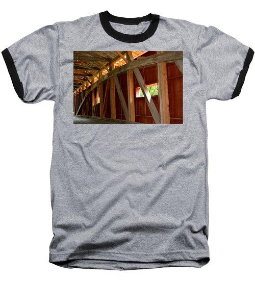 Inside A Covered Bridge 2 Baseball T-Shirt