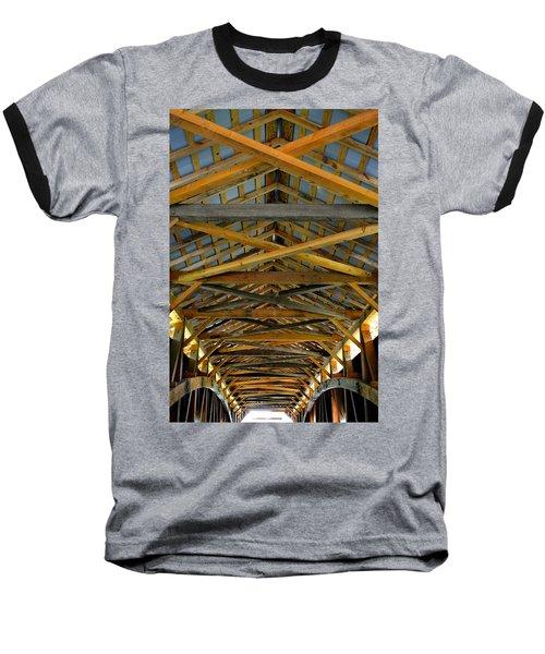 Inside A Covered Bridge 3 Baseball T-Shirt