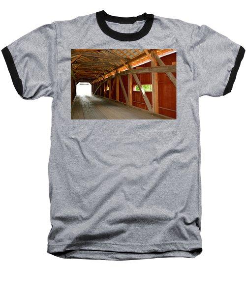 Inside A Covered Bridge Baseball T-Shirt