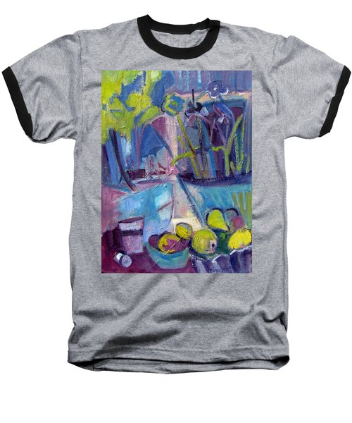 Inside And Outside Abstract Expressionism Baseball T-Shirt