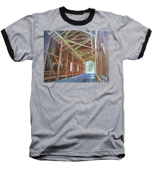 Inside Felton Covered Bridge Baseball T-Shirt