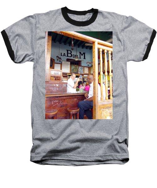 Inside La Bodeguita Del Medio Baseball T-Shirt by Valentino Visentini