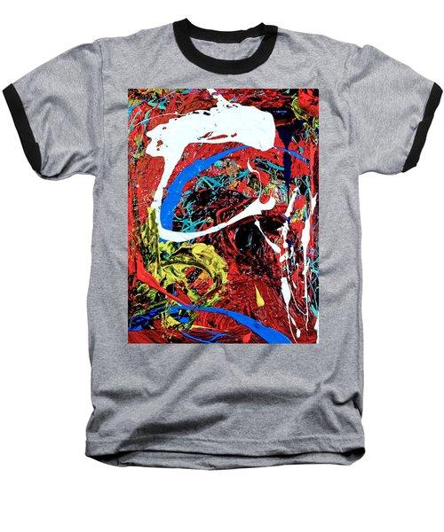 Inside The Big Fish Baseball T-Shirt by Elf Evans