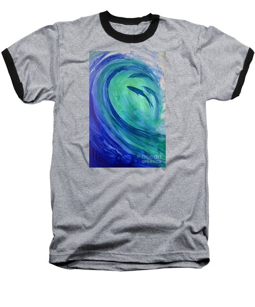 Inside The Curl Baseball T-Shirt by Joan Hartenstein