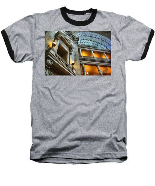 Inside The Natural History Museum  Baseball T-Shirt by John S