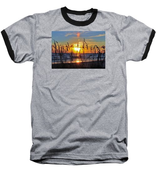 Inside The Sunset Baseball T-Shirt by Kicking Bear  Productions