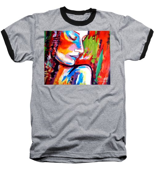 Baseball T-Shirt featuring the painting Insight by Helena Wierzbicki