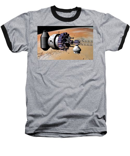 Baseball T-Shirt featuring the digital art Inspection Over Mars by David Robinson