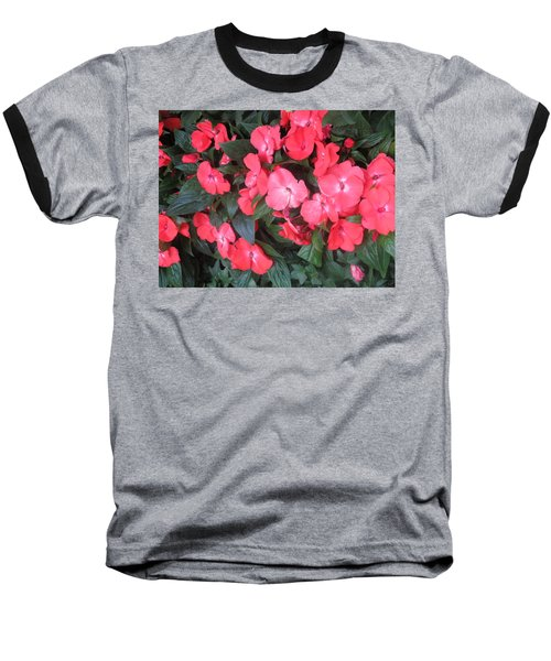 Baseball T-Shirt featuring the photograph Interior Decorations Butterfly Garden Flowers Romantic At Las Vegas by Navin Joshi