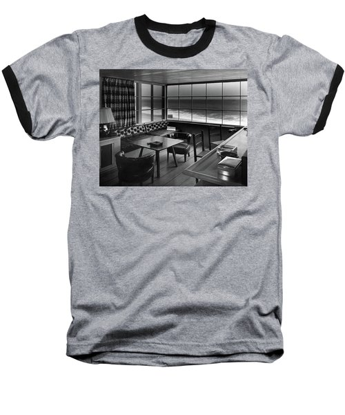 Interior Of Beach House Owned By Anatole Litvak Baseball T-Shirt