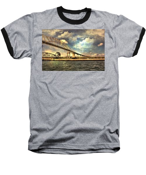 International Bridge Sault Ste Marie Baseball T-Shirt