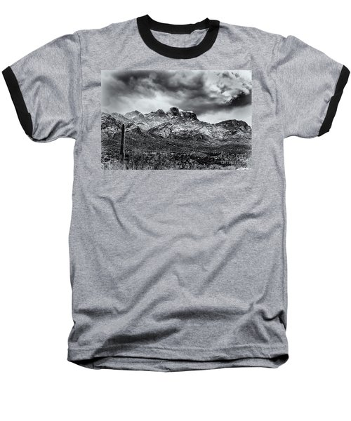 Baseball T-Shirt featuring the photograph Into Clouds by Mark Myhaver