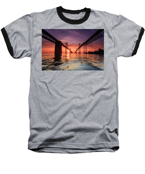 Into Sunrise - Bay Bridge Baseball T-Shirt