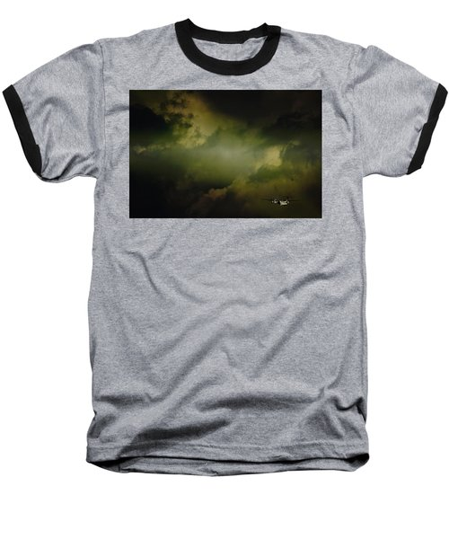 Into The Clouds Baseball T-Shirt by Paul Job
