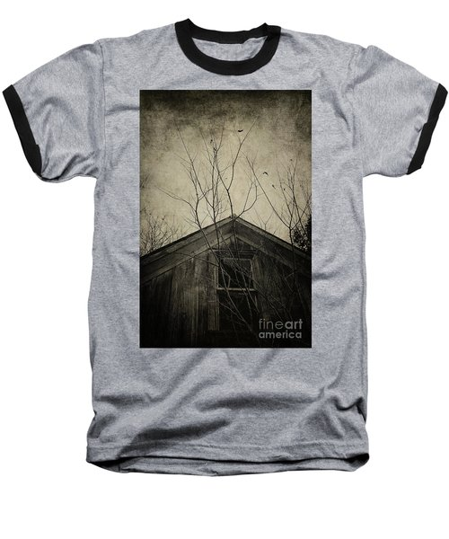 Into The Dark Past Baseball T-Shirt by Trish Mistric