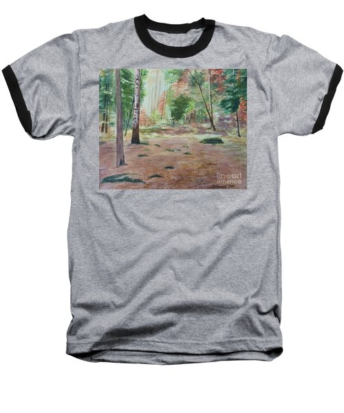 Into The Forest Baseball T-Shirt by Martin Howard