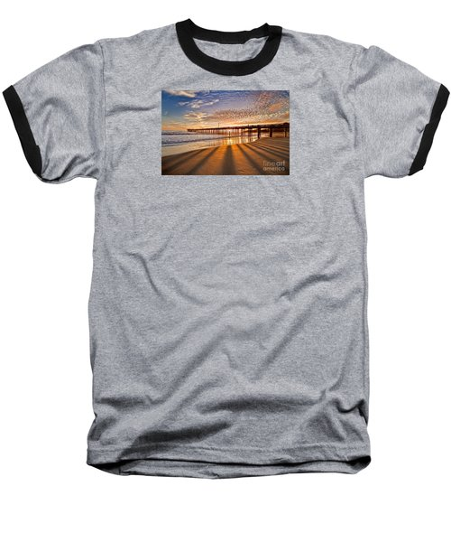 Into The Light Baseball T-Shirt by Alice Cahill