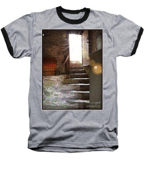 Baseball T-Shirt featuring the photograph Into The Light - The Ephrata Cloisters by Joseph J Stevens