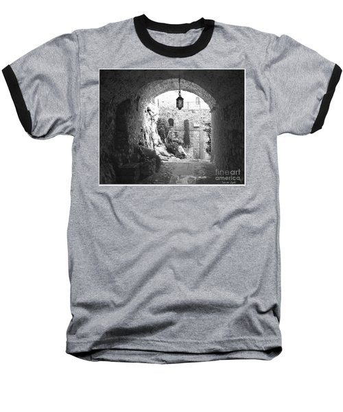 Into The Light Baseball T-Shirt by Victoria Harrington