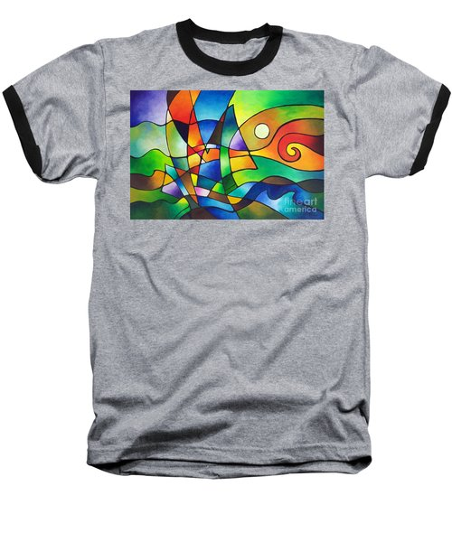 Into The Wind Baseball T-Shirt by Sally Trace