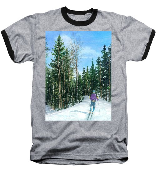 Into The Woods Baseball T-Shirt by Barbara Jewell