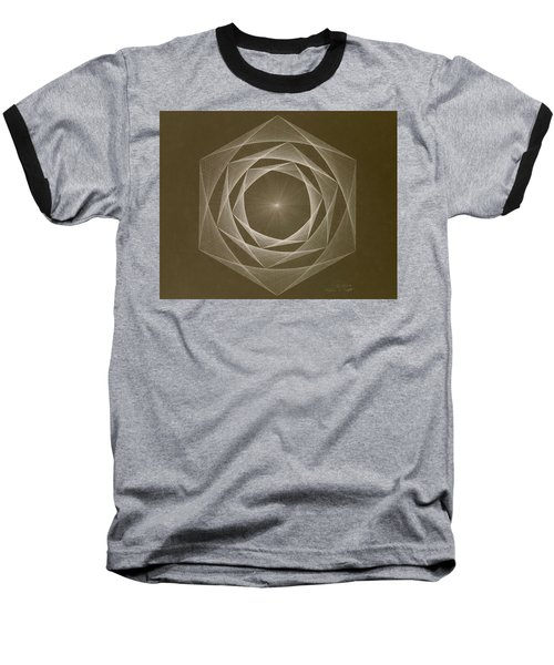 Baseball T-Shirt featuring the drawing Inverted Energy Spiral by Jason Padgett