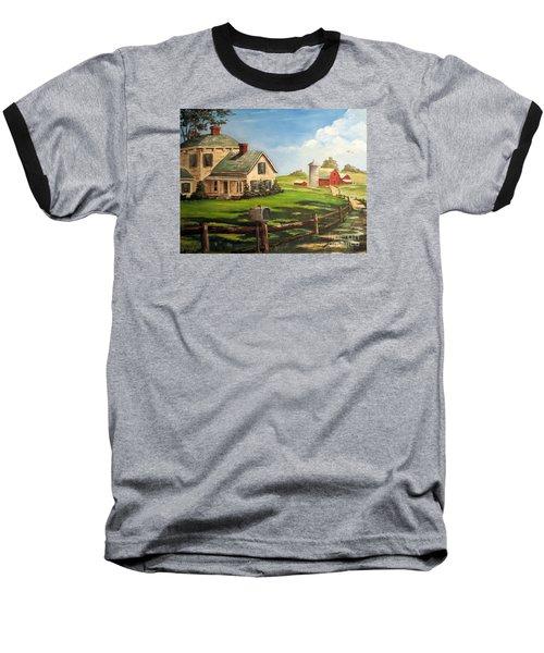 Iowa Farm Baseball T-Shirt by Lee Piper
