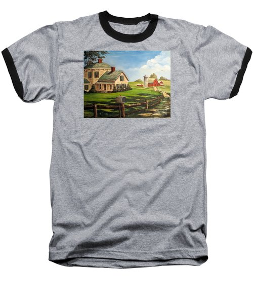 Cherokee Iowa Farm House Baseball T-Shirt