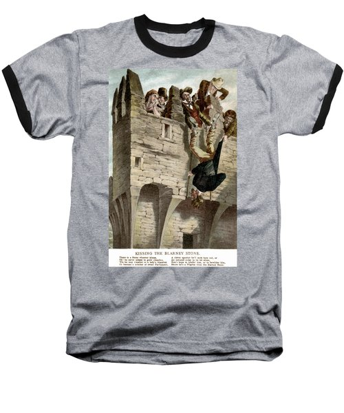 Baseball T-Shirt featuring the painting Ireland The Blarney Stone by Granger