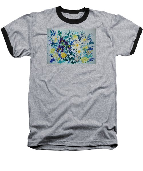 Iris Bouquet Baseball T-Shirt by Veronica Rickard