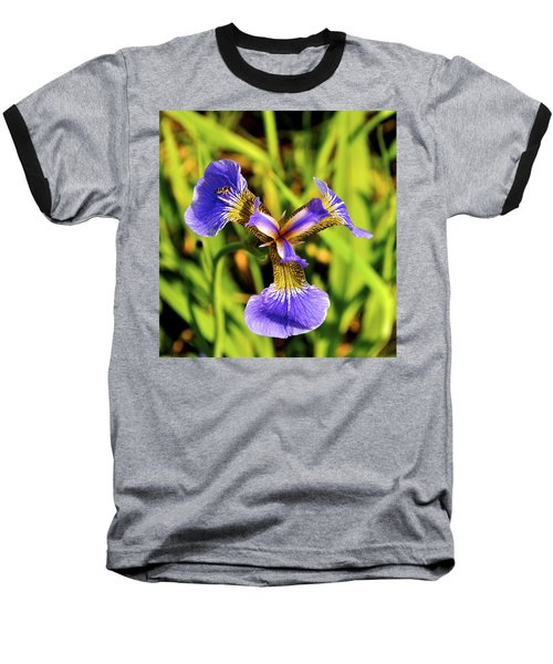 Baseball T-Shirt featuring the photograph Iris by Cathy Mahnke