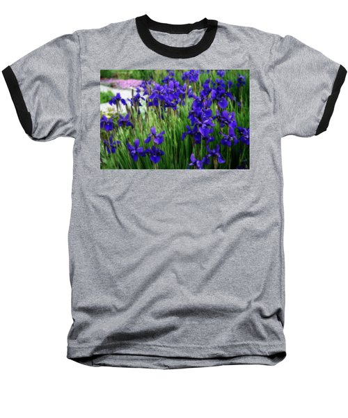 Baseball T-Shirt featuring the photograph Iris In The Field by Kay Novy