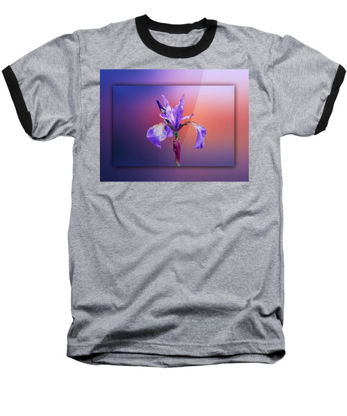 Iris Baseball T-Shirt by Lynn Bolt