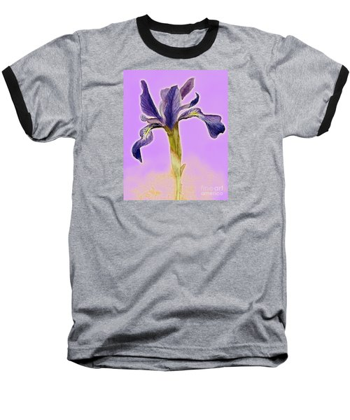 Iris On Lilac Baseball T-Shirt