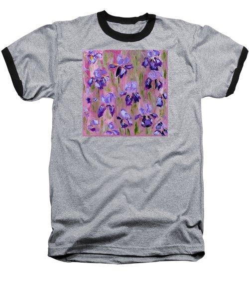 Iris Pattern Baseball T-Shirt