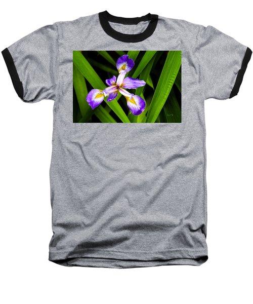 Iris Pinwheel Baseball T-Shirt