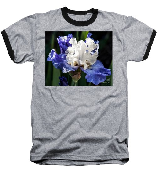 Baseball T-Shirt featuring the photograph Stairway To Heaven Iris by Roselynne Broussard