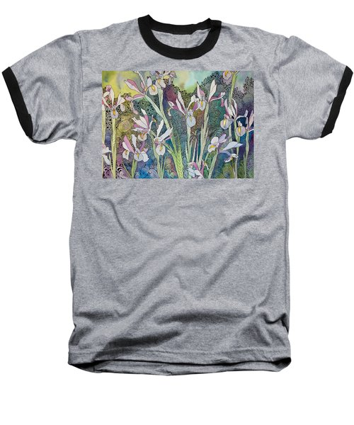 Irises And Doodles Baseball T-Shirt
