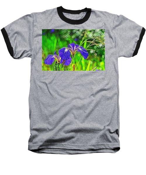 Baseball T-Shirt featuring the photograph Irises by Cathy Mahnke