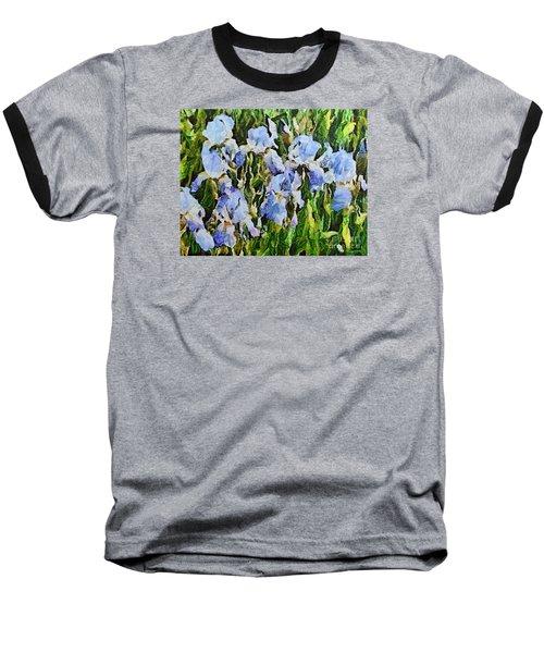 Irises Baseball T-Shirt by Dragica  Micki Fortuna