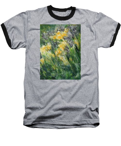 Baseball T-Shirt featuring the painting Irises by Jane See
