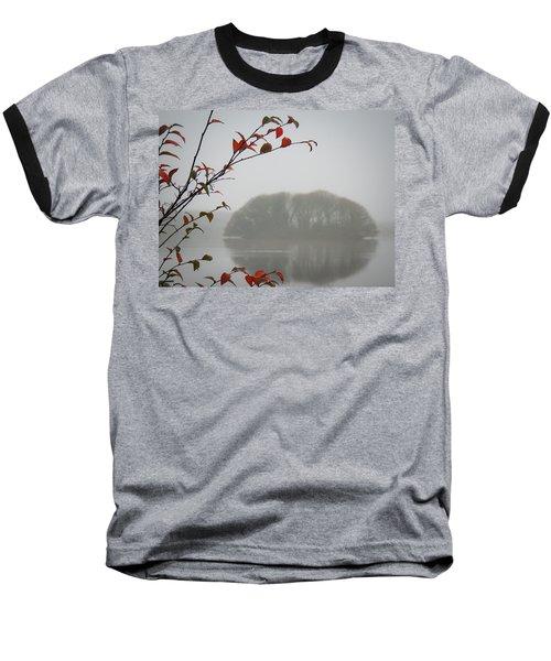 Irish Crannog In The Mist Baseball T-Shirt